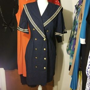 Dresses & Skirts - Vintage Sailor Dress With Pockets!